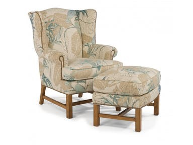 Flexsteel Living Room Fabric Ottoman