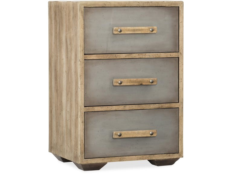 Hooker Furniture Bedroom Urban Elevation Three-Drawer Nightstand