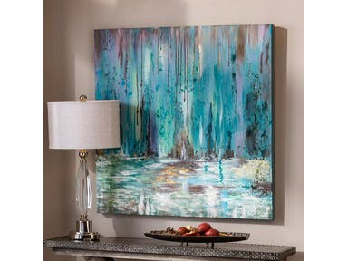 Uttermost Accessories Blue Waterfall Art