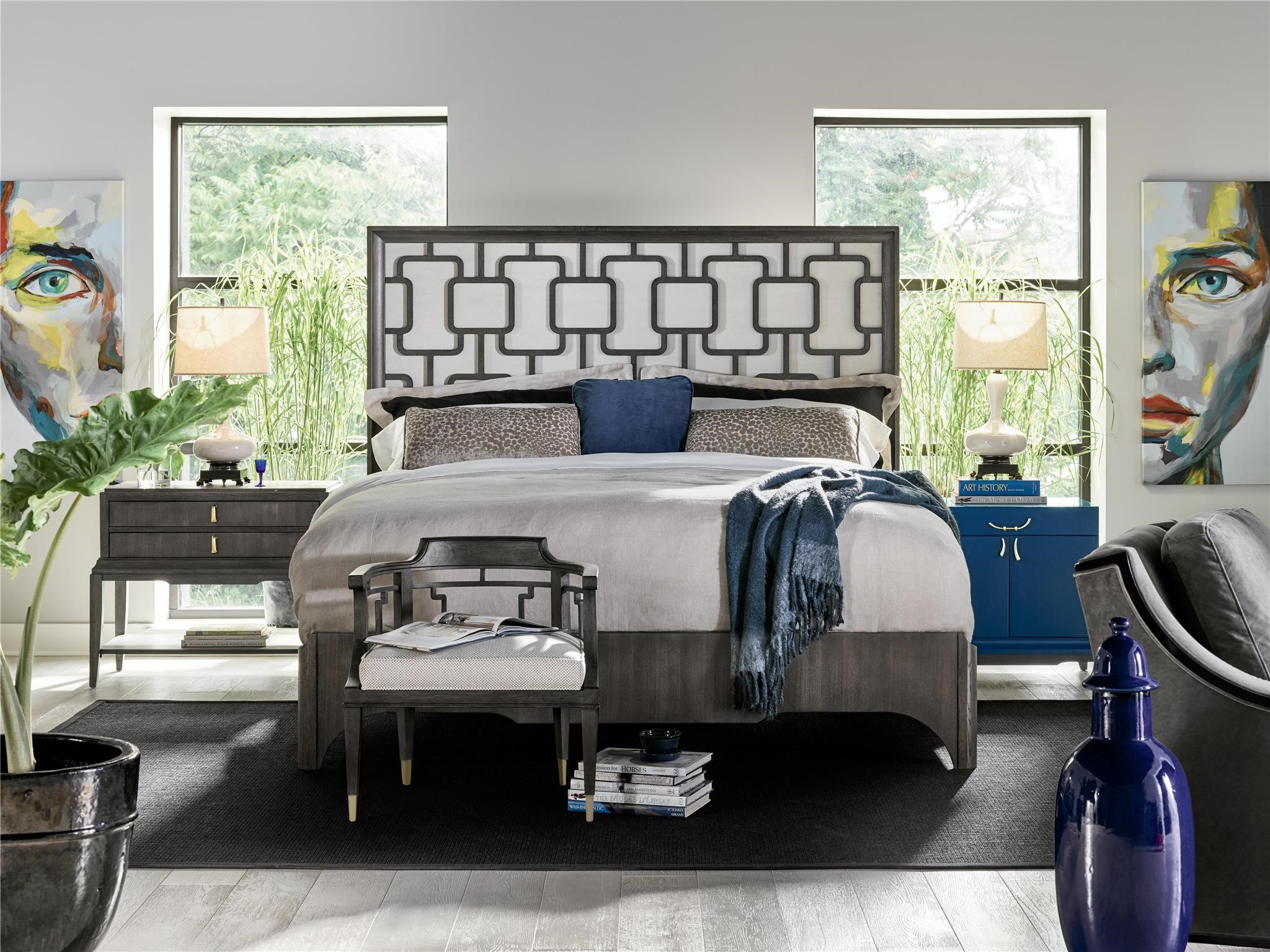 Fusion Panache Upholstered King Bed