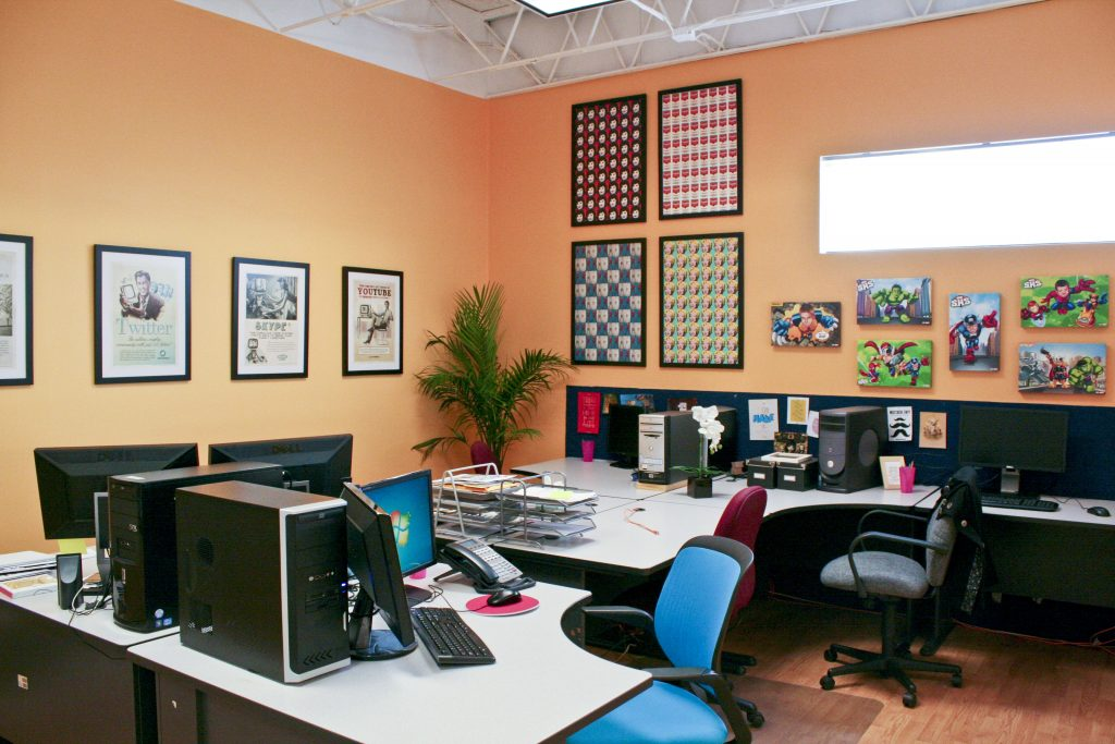 exciting home office paint color ideas | Interior Colors for Commercial Spaces (Link Roundup)