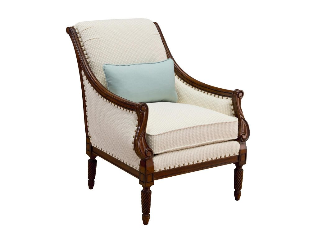 White upholstered furniture such as this Protege Chair has to be covered during the renovation process