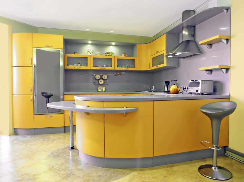 Soften The Look Of Gray And Cold Kitchens